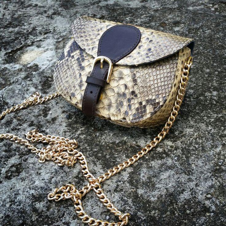 Bag minibag exclusive handmade limitededition python pythonskin snakeskin