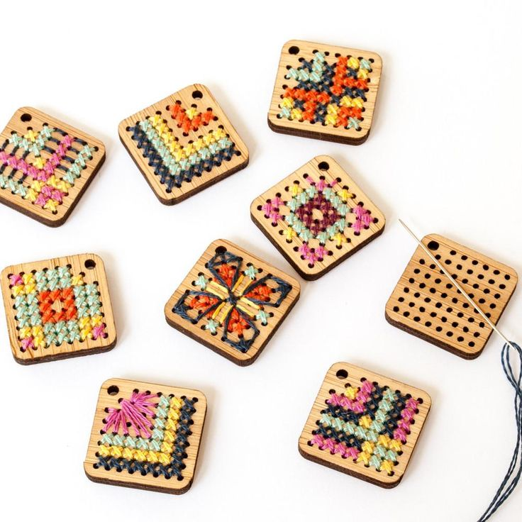 Cross Stitch Earring Kit - Bamboo Diamond