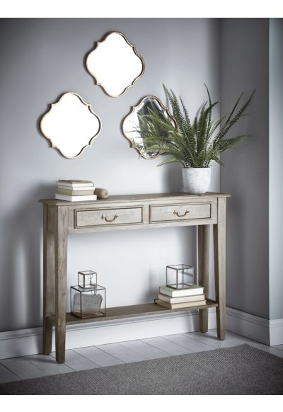 Limewashed Console Table