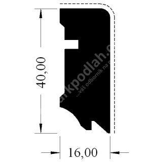 Hoco Cube 630 UM Bílá RAL 9010, 40x16mm | ParkPodlah.cz