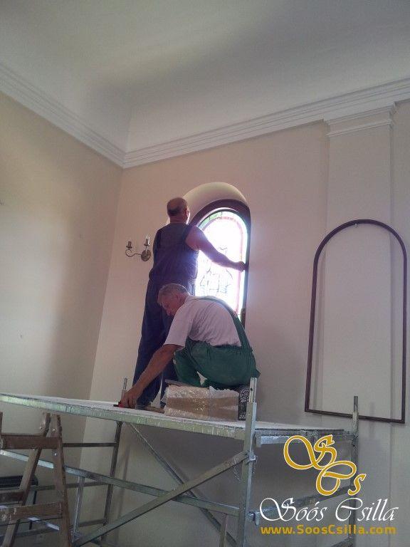 Výroba Vitráže Okna Kostola v Mliečne – Fotky z Montáže