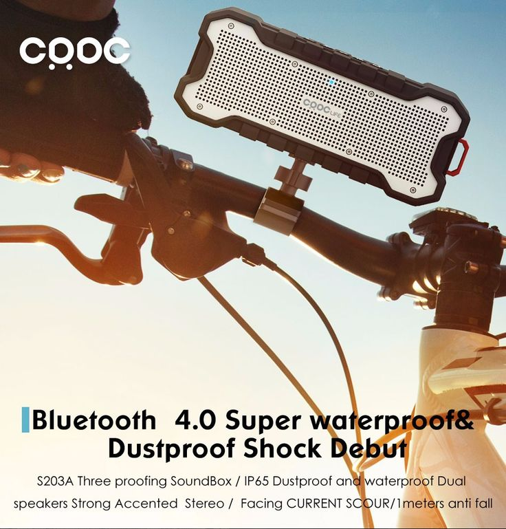 CRDC Bluetooth Speaker Outdoor Wireless Waterproof Speaker with Enhanced Bass Dual 5W Drivers / A2DP /30-Hour Playtime  http://playertronics.com/products/crdc-bluetooth-speaker-outdoor-wireless-waterproof-speaker-with-enhanced-bass-dual-5w-drivers-a2dp-30-hour-playtime/