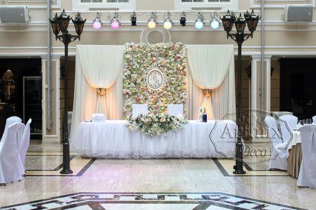 Оформление свадебного зала в гранд отеле Эмеральд