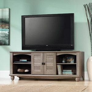 "Sauder Harbor View Salt Oak Entertainment Credenza for TVs up to 60"" - $149.00 (on 04.12.2014, originally $165.00) - 62.6""W x 20.83""D x 25.35""H"