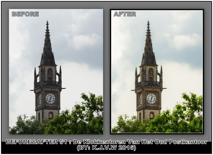 https://flic.kr/p/JGTeTs | Before AND After : 51 | What's the title?  De Klokkentoren Van Het Oude Postkantoor  Why?  It's the clocktower of the old post office (like the title, which is in Flemish language)   Where was this?  Ghent,(Flanders),Belgium  In what year is this made?  2016   What did you change?  I lowered the shadows and maked it warmer.  Finally, Your Plan?  1-Captured the shot 2-converted image on the PC 3-Opened image in RAW-editor (Of Photoshop Elements) 4-Made my changes…
