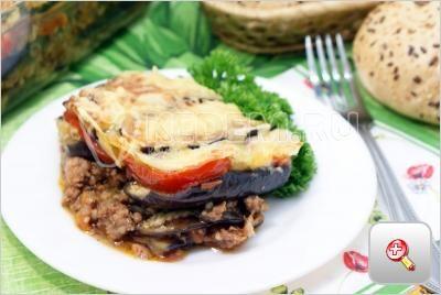 Мусака с фаршем и баклажанами. Пошаговый кулинарный рецепт с фотографиями приготовление мусаки, слоеной запеканки из баклажан с фаршем.