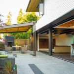 seattle patio cover design with contemporary dining room chairs and tile floor dark