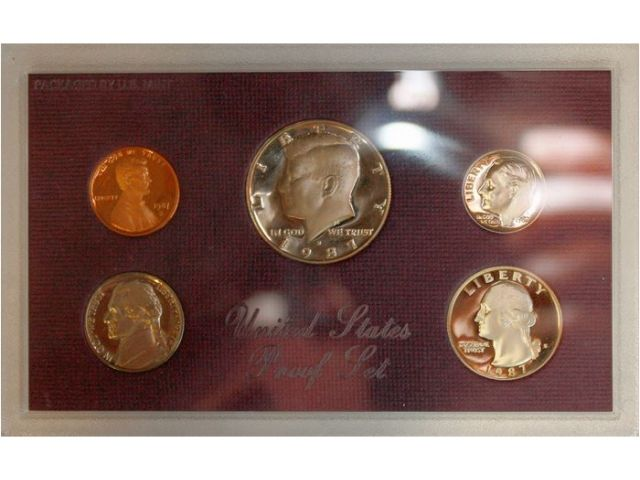 1987 S Proof Coin Set United States Mint
