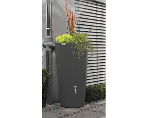 Regenspeicher 3P Rainbowl Flower 150 L, anthrazit