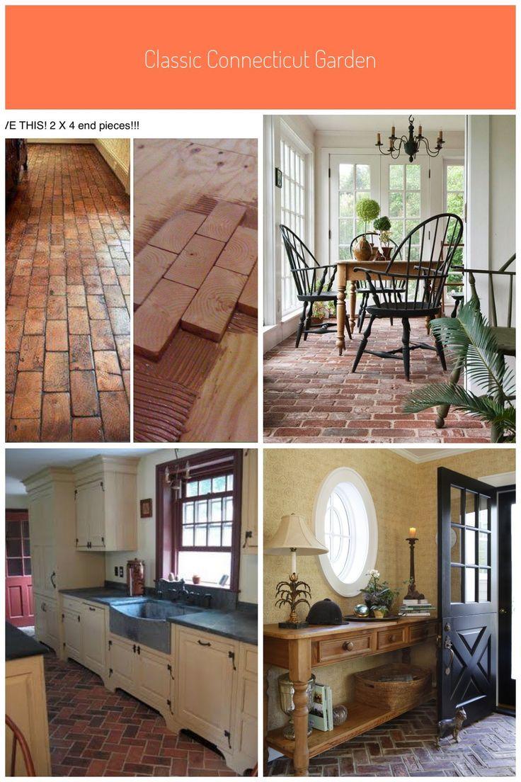 2x4 Faux Brick Floor With Wood Blocks Wooden Blocks For Fake Brick Flooring Awesome Diy Idea Brick Floorin Faux Brick Brick Flooring Textured Hardwood Floors