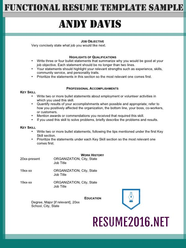 Resume Format Highlighting Experience Experience Format Highlighting Resume Resumeformat Functional Resume Resume Skills Functional Resume Template