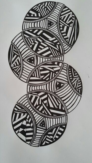 Zentangle of Circles