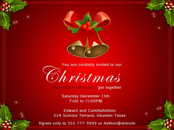 115 best Christmas Invitation Cards images – Invitation Card for Get Together