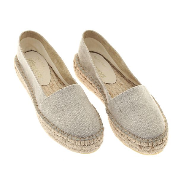 121c5433b7d 2310 # Μονόχρωμη Δίπατη Γυναικεία Εσπαντρίγια χρ. Μπεζ | fashion ...