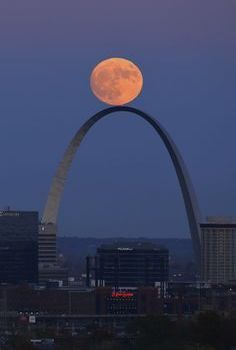 Moon Over St. Louis, Missouri Arch