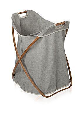 Butterfly double laundry basket in grey