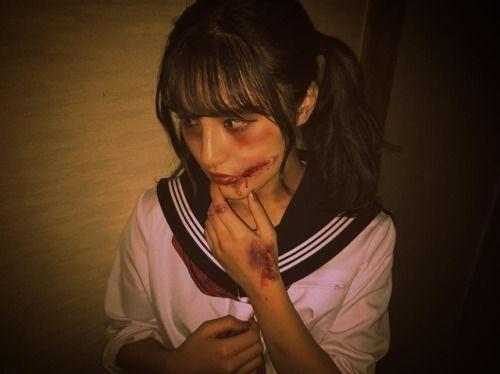 happy Halloween  セーラーゾンビ #trickortreat  #halloweenmakeup... #Team8 #AKB48 #Instagram #InstaUpdate