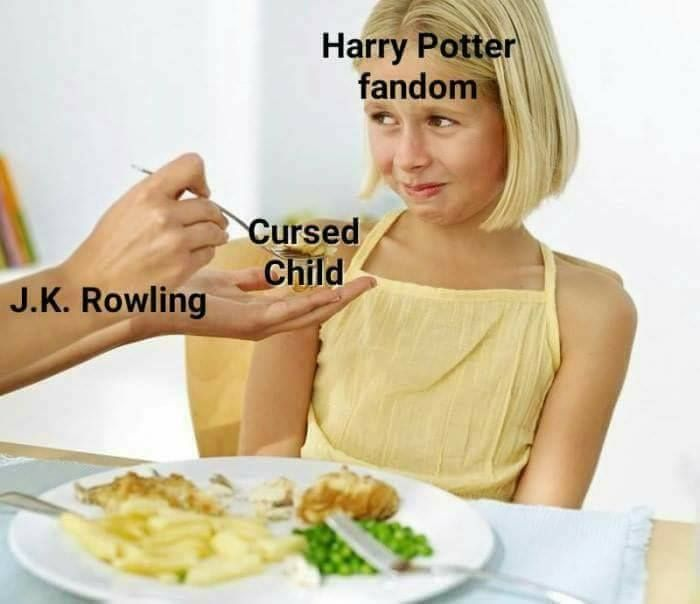 Hahaha this is really funny! Sorry to anyone who liked Cursed Child. I personally didn't like it and chose to ignore that it ever happened lol. Just remember that everyone is entitled to their own opinion. :)