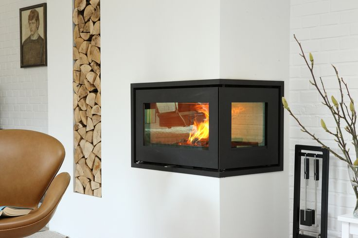#Interiorarchitecture with #RAIS500. Now you can see your #RAIS #fireplace from two angles.