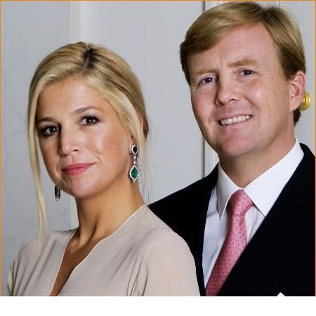 official portrait of prince willem-alexander & princess maxima