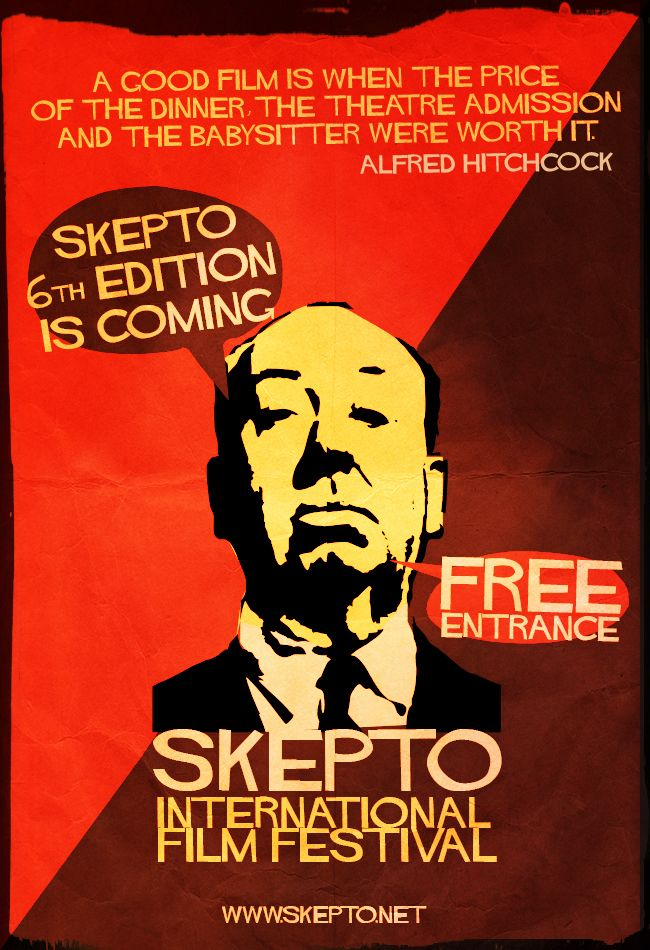 Skepto Retro Poster - Director's Quotes nº1 Alfred Hitckcock