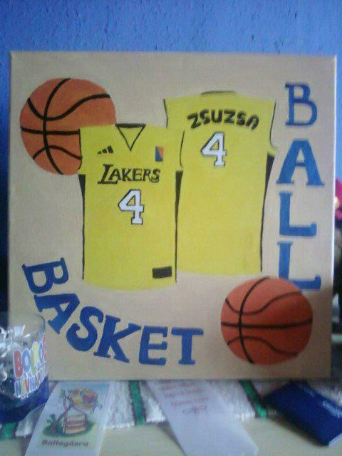 Birthday gift - basketball painting