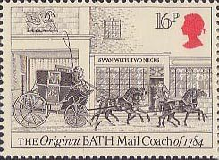 Royal Mail 16p Stamp (1984) Bath Mail Coach, 1784