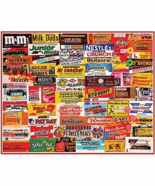 White Mountain Puzzles CANDY WRAPPERS Jigsaw Puzzle 1000 Pieces NEW #WhiteMountainPuzzles