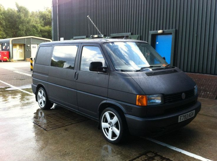 matte black  vw  transporter vw bus cars