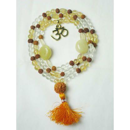 Mogulinterior Spiritual Jewelery Citirine Rudraksha Mala 2