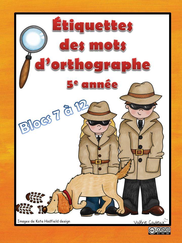 La classe de Madame Valérie: Étiquettes des mots d'orthographe de 5e et cie