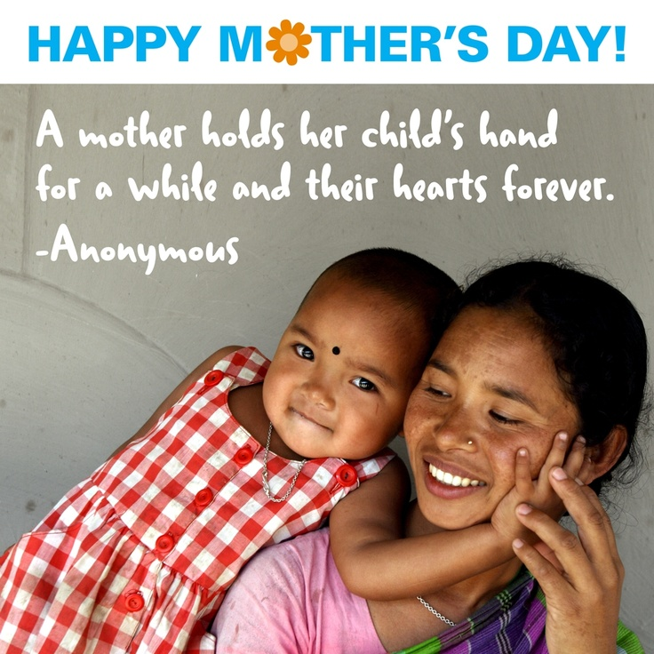 Happy Mother's Day! Thanks to all the moms (and mom-like figures) who shower children with love.