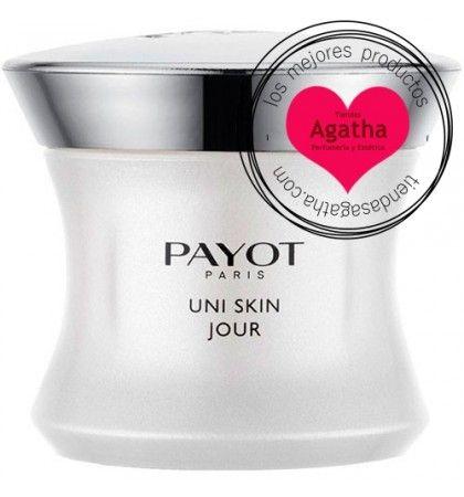 Payot Uni Skin Jour Crema 50 ml    Payot Uni Skin Jour es una crema de uso diario que previene las manchas, falta de luminosidad, marcas y rojeces, protegiendo la piel de los rayos UVA gracias al filtro solar SPF15.