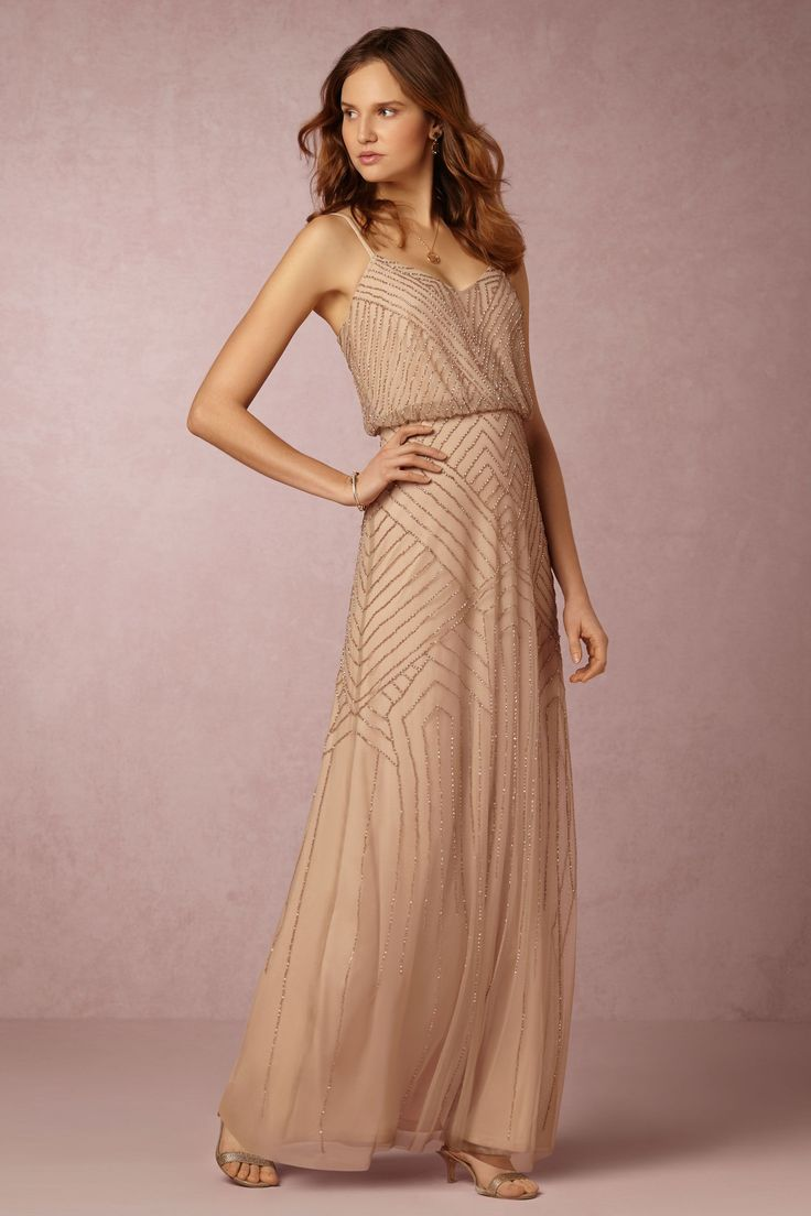 Sophia Dress from @BHLDN - in this Rose Gold or Mist Green - love!!!
