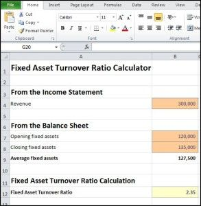 Fixed Asset Turnover Ratio Calculator « Double Entry Bookkeeping
