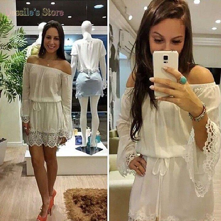 Hombro vendedor caliente vestidos encaje recorte y cinta blanca paneles español bellos mini vestido. VESTIDO DE FESTA 36 en Vestidos de Moda y Complementos Mujer en AliExpress.com | Alibaba Group