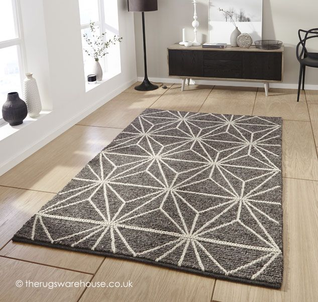 Alpha Geometric Brown Rug A 100 Wool Cream Handmade Http