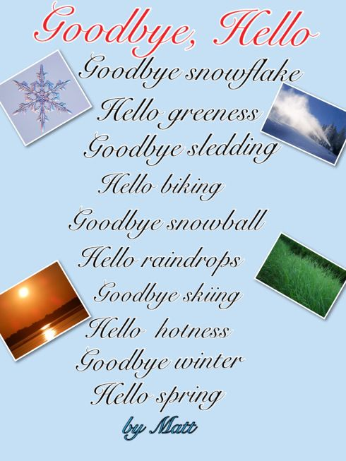 """Blog Post by @MsJordanReads about """"Goodbye/Hello"""" poetry writing using Pic Collage (FREE app) on the iPads."""