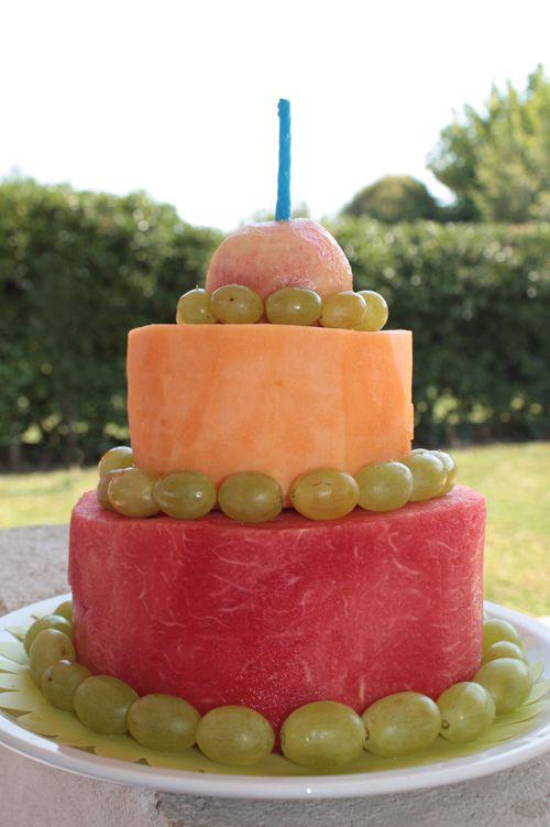 Torta di frutta - Summer party - Torta di compleanno estiva