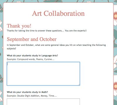 9 best images about The Art of Teaching Art on Pinterest - example of survey form