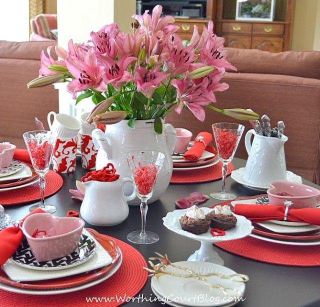 valentine 39 s day tablescape