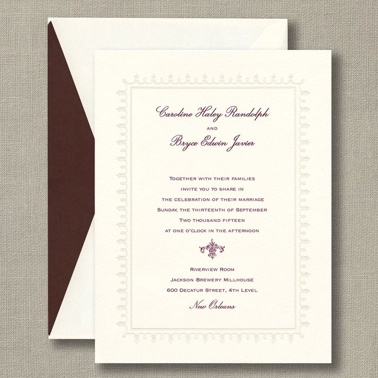 128 best wedding invitations images on pinterest bat mitzvah distinctively timeless with a mix of classic fonts accented by a vintage inspired fleur de lis motif this warm white invitation card boasts a pearl stopboris Choice Image