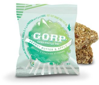 Innotech is a PROUD Distributor of GORP bars these are all natural clean energy bars, here is the GREEN APPLE PEANUT BUTTER FLAVOUR YUMMMM