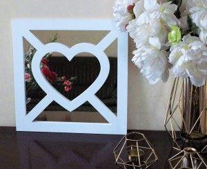 Dekoracyjny panel kwadratowy do luster IKEA - serce x