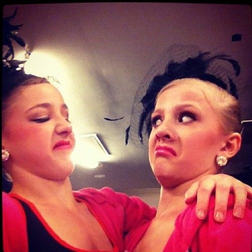 chloe lukasiak and paige hyland.....this would be me and Tracey