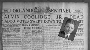 Calvin Coolidge (July 4, 1872 – January 5, 1933) was the 30th US President (1923–29). A Republican lawyer from Vermont, Coolidge worked his way up the ladder of Massachusetts state politics, eventually becoming governor of that state.