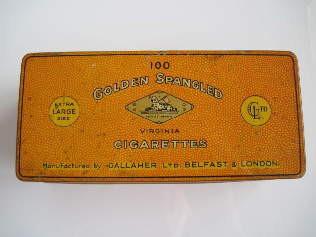 Excited to share the latest addition to my #etsy shop: Golden Spangled Extra Large cigarette tin (100/empty) by Gallahers c.1920 http://etsy.me/2EnnKLD #vintage #collectables #cigarettetin #tobaccocollectibles