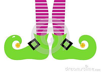 Christmas Elf legs. Vector Illustration