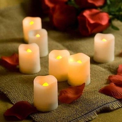 Candle Choice Set of 6 Melted Edge Votive Flameless Candles with Timer | eBay