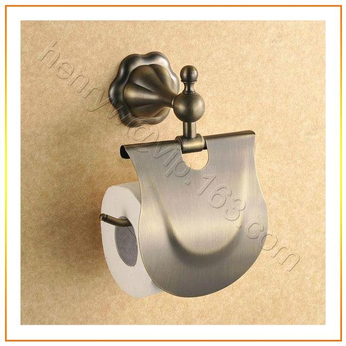 Торгово-люкс латуни бумаги держатель, Бронзовая отделка Toliet держатель рулона, Настенные туалетной бумаги держатель, Бесплатная доставка L15610